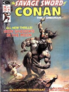 savage sword conan #4 iron shadows moon