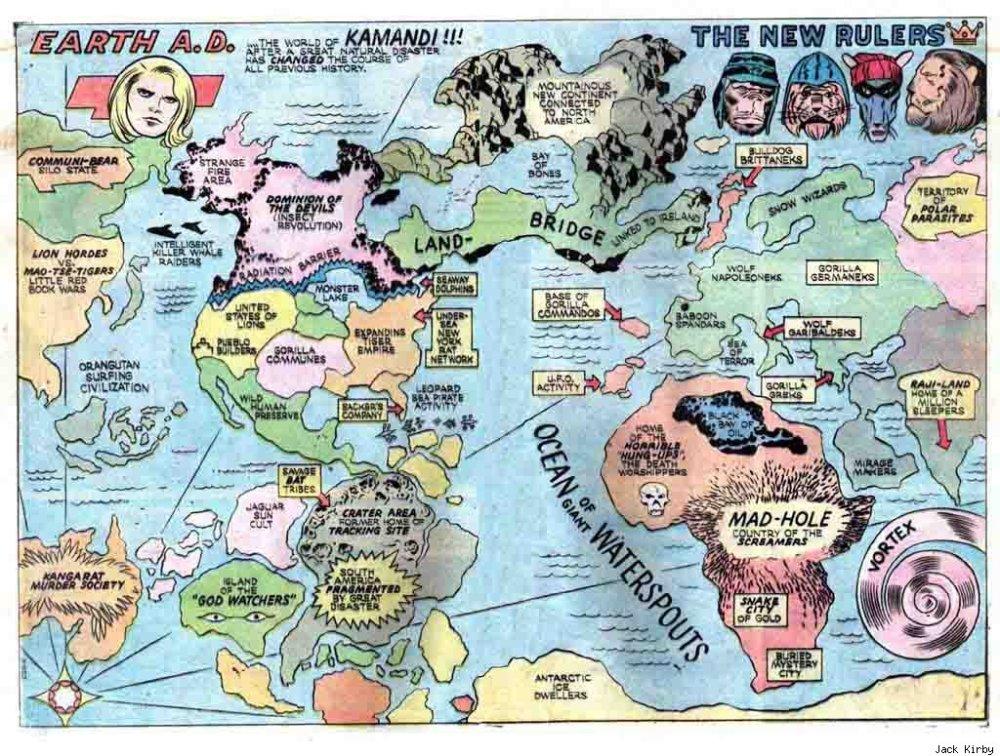 Map of Kamandis world